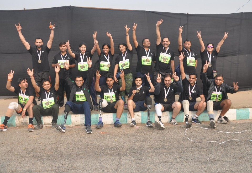 Endolite India team runs in Delhi Half Marathon 2015